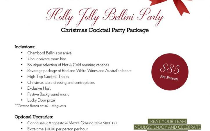 Christmas Party Packages 2019